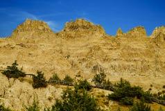 PanoramaBadlands nationalpark, South Dakota, USA royaltyfri foto