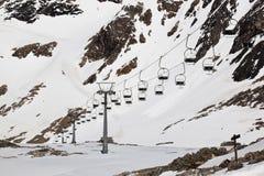 Panoramabahn, ghiacciaio di Molltaler, Austria Immagine Stock