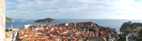 Panoramabeeld van Dubrovnik Stock Fotografie