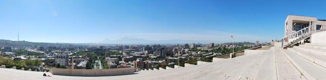 Panoramabeeld Yerevan, Armenië Stock Fotografie
