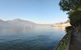 PanoramaBellagio sjö Como Royaltyfri Fotografi