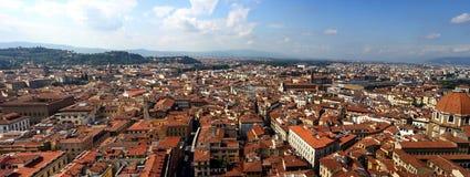 Panoramabild von Florenz, Italien Lizenzfreie Stockfotos