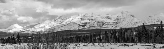 Panoramabild von Polebridge, M.Ü. des Glacier Nationalparks lizenzfreie stockfotografie