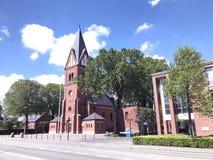 Panoramablick über Herning-Kirche, Dänemark lizenzfreies stockbild