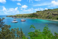 Panoramablick über Honolua-Bucht, Maui, Hawaii lizenzfreies stockfoto