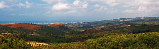 Panoramablick über offener Landschaft Lizenzfreie Stockfotografie