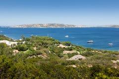 Panoramablick über Porto Pollo Lizenzfreie Stockfotos