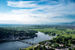 Panoramablick am Albaner Stockbild