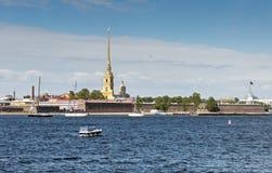 Panoramablick auf historischer Mitte von Sankt Petersburg, Lizenzfreies Stockbild