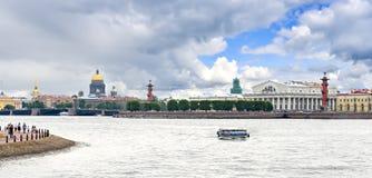 Panoramablick auf historischer Mitte von Sankt Petersburg, Russland Stockbild