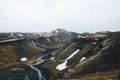Panoramablick auf inländischem Berg stockbild