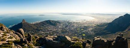 Panoramablick auf Kapstadt stockbild