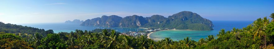 Panoramablick auf Ko Phi Phi Don Lizenzfreie Stockfotos