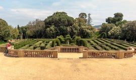 Panoramablick auf neoklassisch-ähnlichem Park von Horta stockfotografie