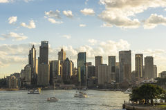 Panoramablick Australiens Sydney CBD Stockfotos