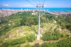 Panoramablick BATUMIS, GEORGIA 1. Juli 2015 von Batumi von der Aussichtsplattform Lizenzfreie Stockfotos