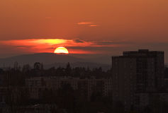 Panoramablick bei Sonnenuntergang Lizenzfreies Stockfoto