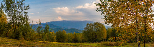 Panoramablick, Berge Karpaten Lizenzfreies Stockbild