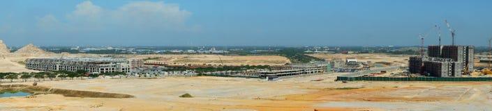 Panoramablick der Baustelle Lizenzfreie Stockbilder