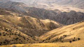 Panoramablick der Berge und der Hügel in Armenien Stockbilder