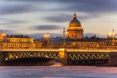 Panoramablick der historischen Mitte von St Petersburg Stockbilder