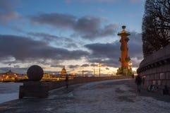 Panoramablick der historischen Mitte von St Petersburg Stockbild