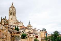Panoramablick der historischen Stadt von Segovia, Spanien Lizenzfreie Stockbilder