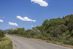 Panoramablick der Landstraße 132, Paonia, Colrado Lizenzfreies Stockbild