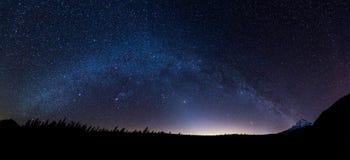 Panoramablick der Milchstraße stockfoto