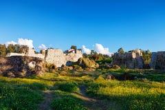 Panoramablick der mittelalterlichen Festung von PETRA Die archäologischen Aushöhlungen Tsikhisdziri, Kobuleti, Batumi, Adjara, Ge Stockfoto