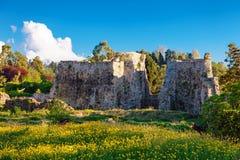 Panoramablick der mittelalterlichen Festung von PETRA Die archäologischen Aushöhlungen Tsikhisdziri, Kobuleti, Batumi, Adjara, Ge Lizenzfreies Stockbild