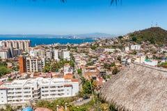Panoramablick der romantischen Zone, Puerto Vallarta, Mexiko lizenzfreie stockfotografie