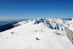 Panoramablick der Spitze des Berges auf der Südseite C stockbilder