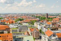 Panoramablick der Stadt München im Bayern, Deutschland Lizenzfreies Stockfoto