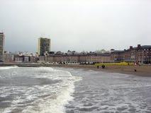 Panoramablick der Stadt von Mar del Plata Bristol Beach Casino Buildings Buenos Aires Argentinien lizenzfreies stockfoto
