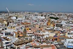 Panoramablick der Stadt von Sevilla von Giralda-Turm von stockbild
