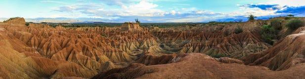 Panoramablick der Tatacoa-Wüste, Kolumbien Lizenzfreie Stockfotos