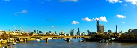 Panoramablick der Themses London Stockfoto