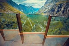 Panoramablick der Trollstigen-Straße Lizenzfreies Stockbild