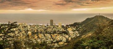Panoramablick der vietnamesischen Stadt Vũng Tàu und Statue von J Lizenzfreie Stockfotos