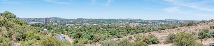 Panoramablick der Westteile von Bloemfontein Stockbilder
