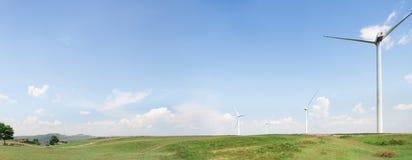 Panoramablick der Windenergie Lizenzfreies Stockbild