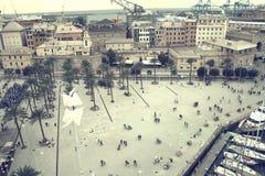 Panoramablick des antiken Hafens Italien Lizenzfreies Stockfoto
