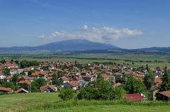 Panoramablick des Dorfs Belchin Lizenzfreie Stockfotos