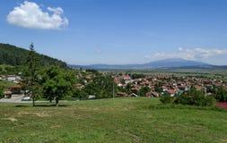 Panoramablick des Dorfs Belchin Stockbilder