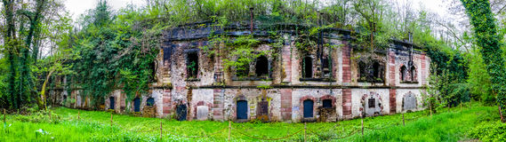 Panoramablick des Forts Uhrich, Illkirch stockfoto