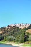 Panoramablick des Hügellandes Stockfotografie
