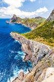 Panoramablick des Kaps Formentor Mallorca Stockbilder