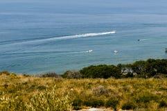 Panoramablick des Meeres in Maratea Italien lizenzfreie stockfotografie