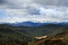 Panoramablick des Meili Schnee-Berges Stockfotos